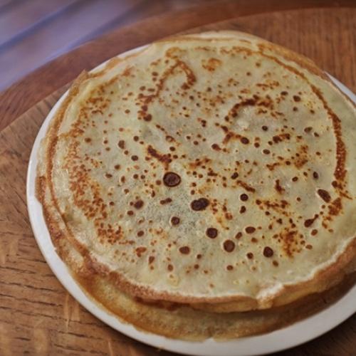 Pâte à crêpes vanillée