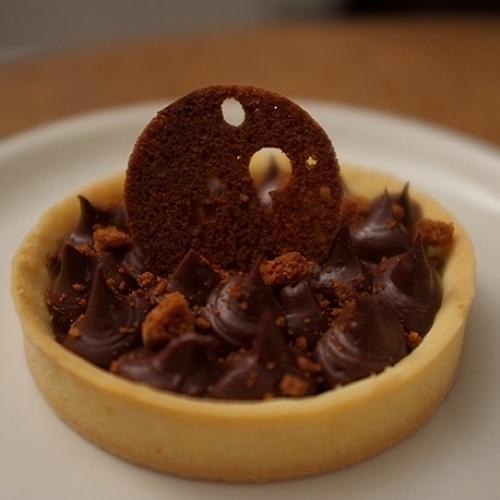 Tartelettes au chocolat café et pain d'épices