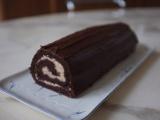 Bûche au chocolat et crème de marrons