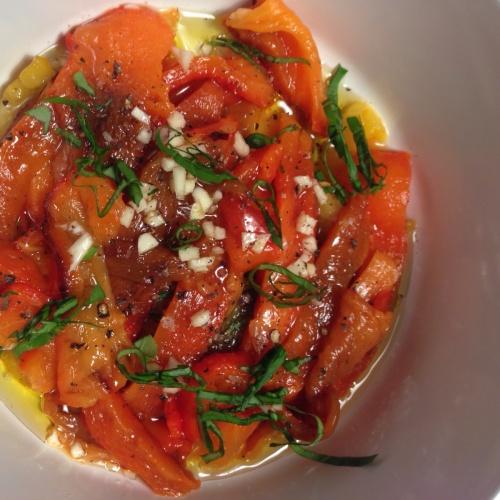 Poivrons marinés à l'huile d'olive